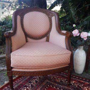Pink Linen arm chair