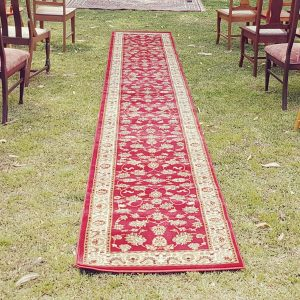 Red Persian aisle runner