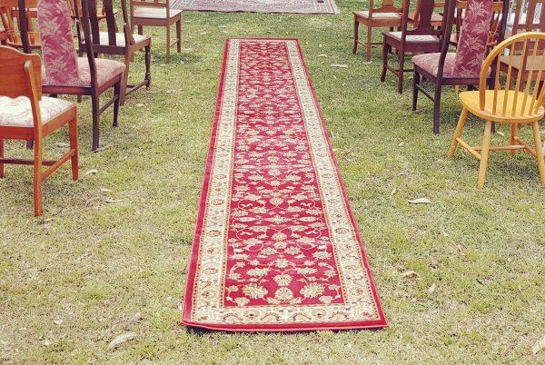 Red Persian aisle runner
