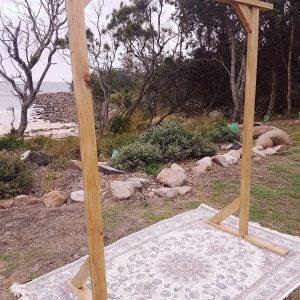Natural timber arbour