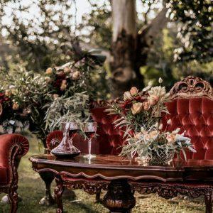Wedding Decorations Vintage Italian coffee table