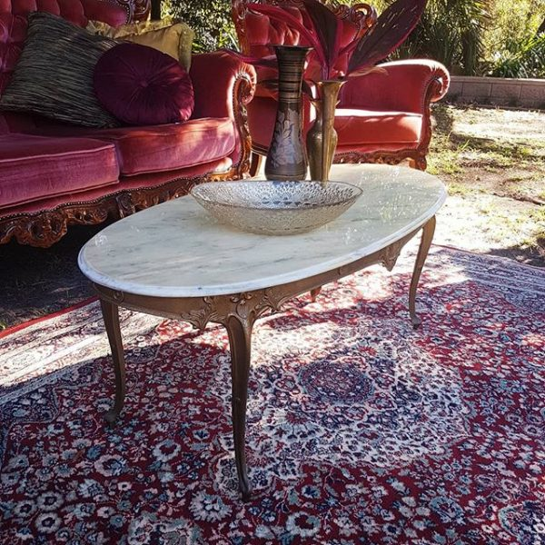 Marble topped coffee table 1
