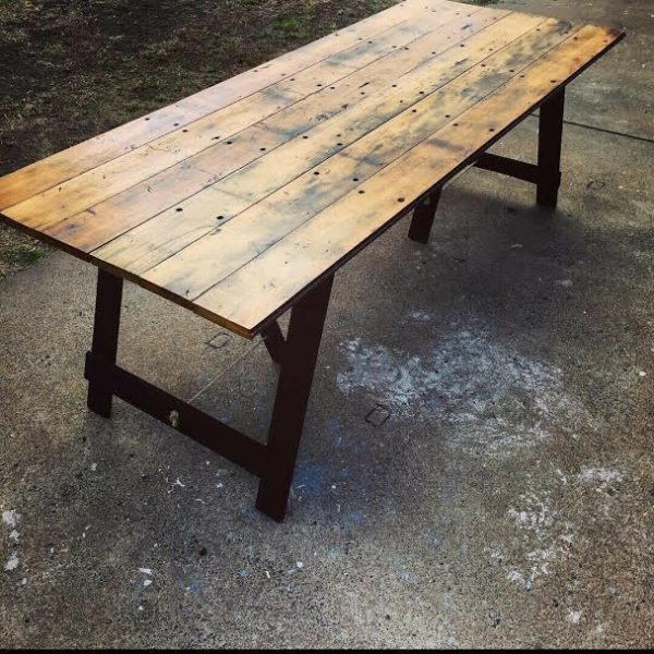 Recycled timber trestle 1
