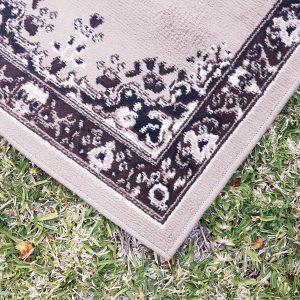 Brown beige persian runner