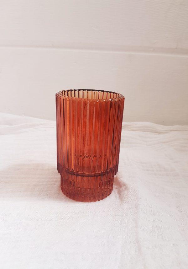 Barcelona rust votive/small vase