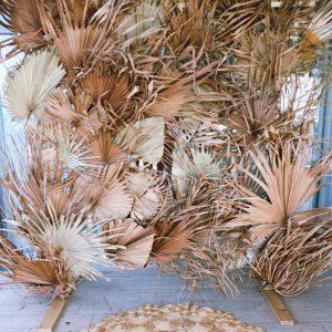 Preserved palm backdrop